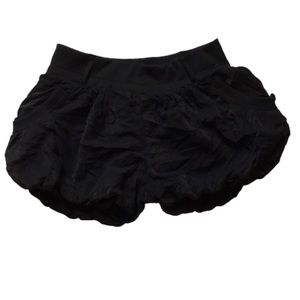 Cecico Black Bubble Mini Shorts High Rise Large